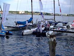 Beide deutsche Teams im Hafen
