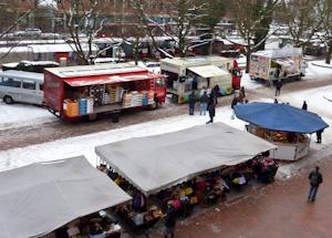 Marktschreier auf dem Holstenplatz